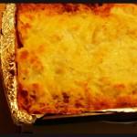 Lasagna con dos salsas