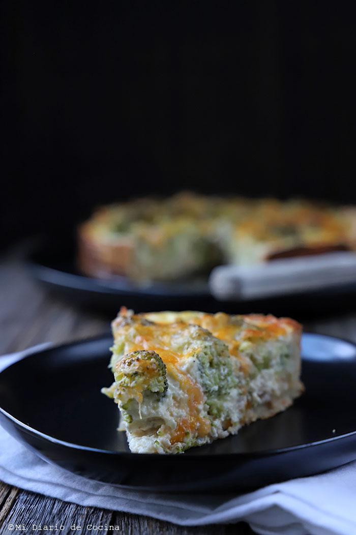 Quiche de atún y brócoli