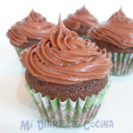 Mini cupcakes de chocolate y naranja