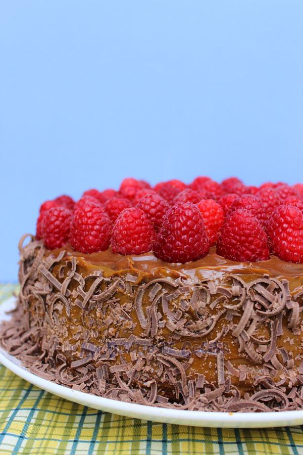 Torta de chocolate y frambuesa