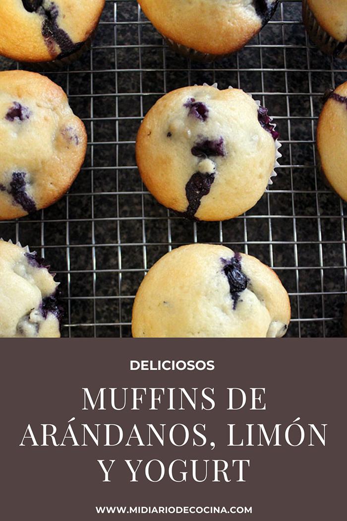 Muffins de arándanos, limón y yogurt