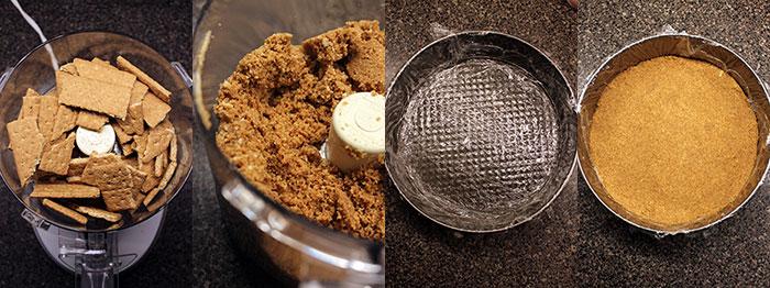 Torta de yogurt - Preparación base de galletas
