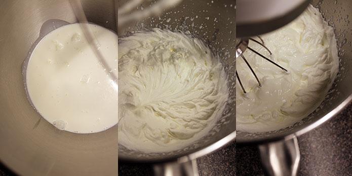 Torta de yogurt - Preparación crema