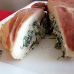 Filete de pollo con prosciutto, espinaca y queso crema