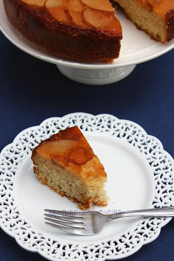 Upside-down pear tart