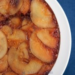 Upside-down pear tart