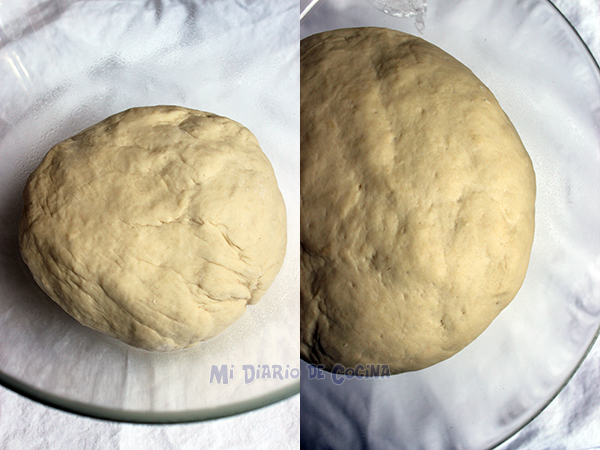 Marraqueta or whipped bread - Dough