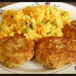 Brazillian style rice and tuna croquettes