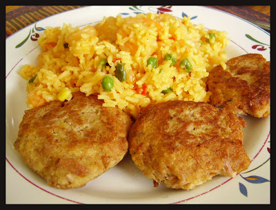 Brazillian style rice and tuna croquettes