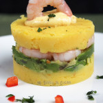 Causa de camarones (Shrimp Causa)