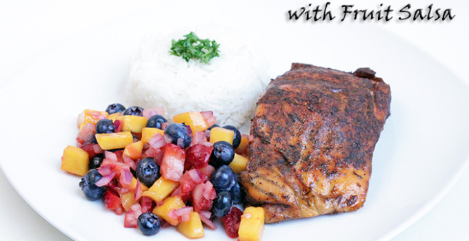 Blackened Salmon with Fruit Salsa