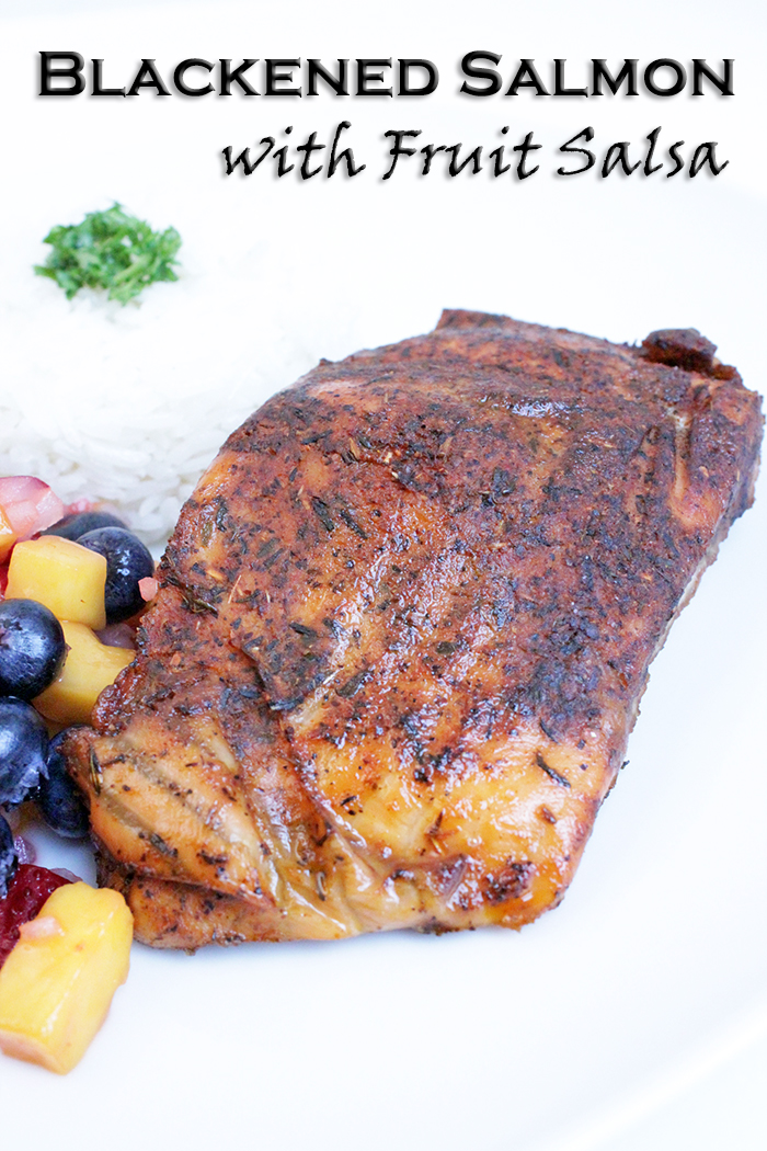 Blackened Salmon with Fruit Salsa – Mi Diario de Cocina
