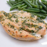 Oven baked chicken fillet with parsley and lemon
