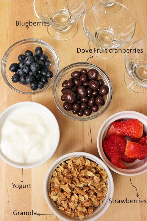 Brunch con DOVE® Fruit Cranberries - Parfait