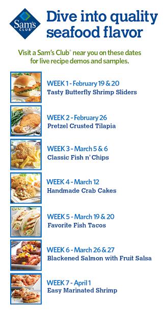 Sam's Club seafood demos