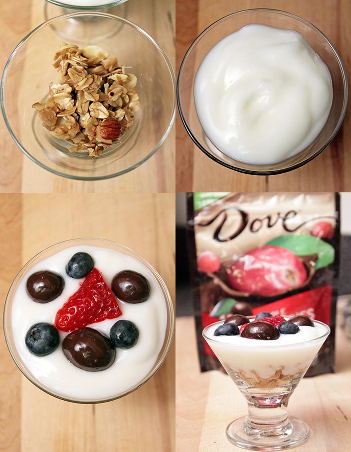 Brunch with DOVE® Fruit cranberries - Parfait
