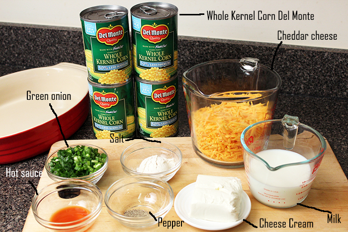 Cheddar Corn Casserole with Del Monte® - Ingredients