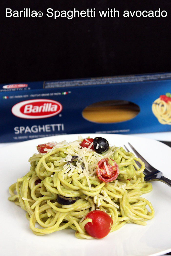 Barilla® Spaghetti with avocado
