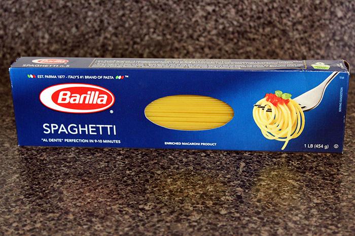 Barilla® Spaghetti with avocado