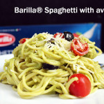 Barilla Spaghetti with avocado