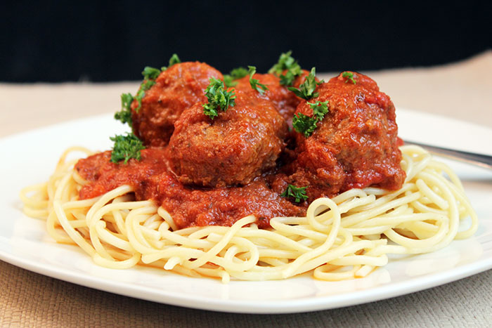 Mama's Best Ever Spaghetti & Meatballs with Melted Cheese