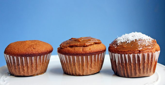 Cupcakes de manjar (dulce de leche)
