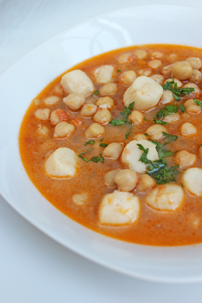 Garbanzos con ostiones
