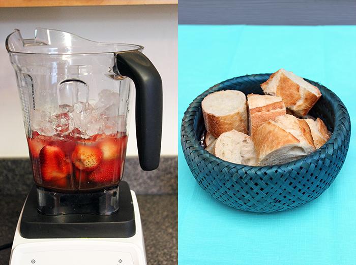 Brochetas de carne y vegetales con dips Kraft - Jugo y pan