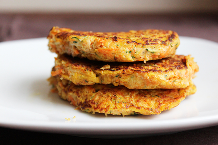 Carrots and zucchini croquettes