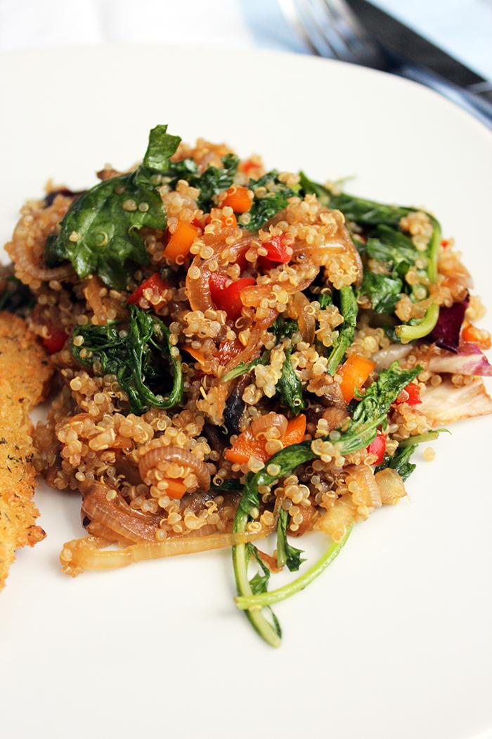 Saute of vegetables and quinoa