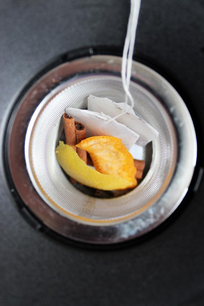 Té con canela, limón y naranja