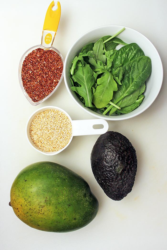 Timbal de quinoa, mango y aguacate - Ingredientes
