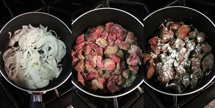 Estofado de carne - Preparación paso a paso