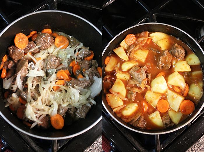 Estofado de carne - Preparación
