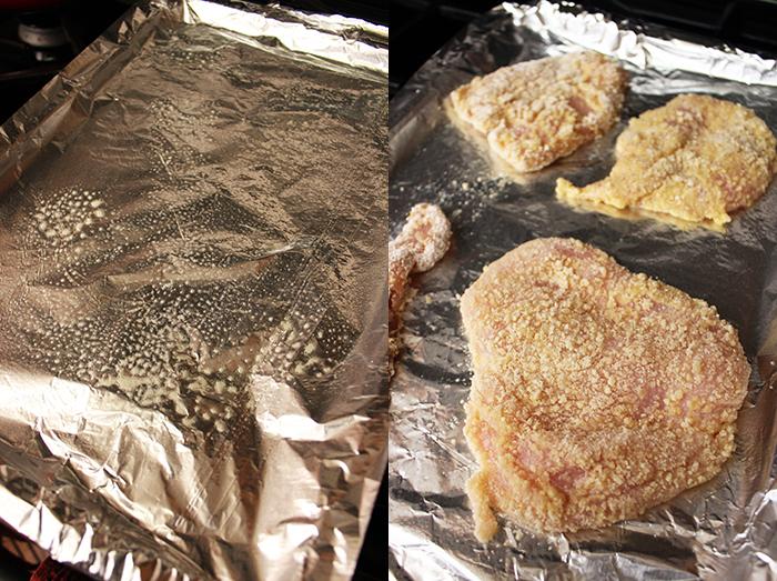 Pollo apanado con harina de almendras - Preparación