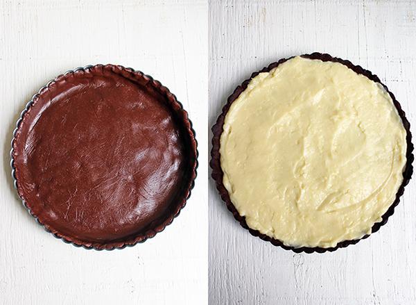 Tarta de chocolate y frutillas - Base