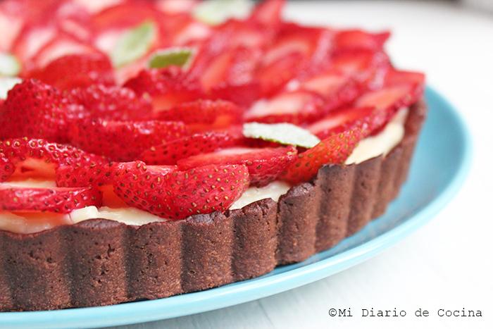 Tarta de chocolate y frutillas - Detalle