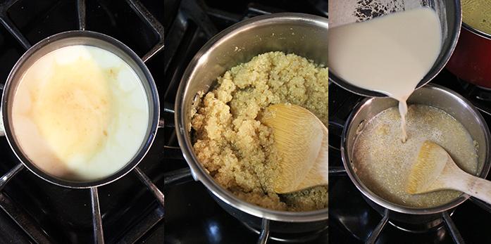 Milk with quinoa and mango - Preparation