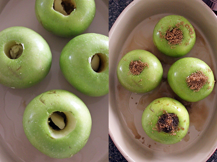 Baked apples - Preparation