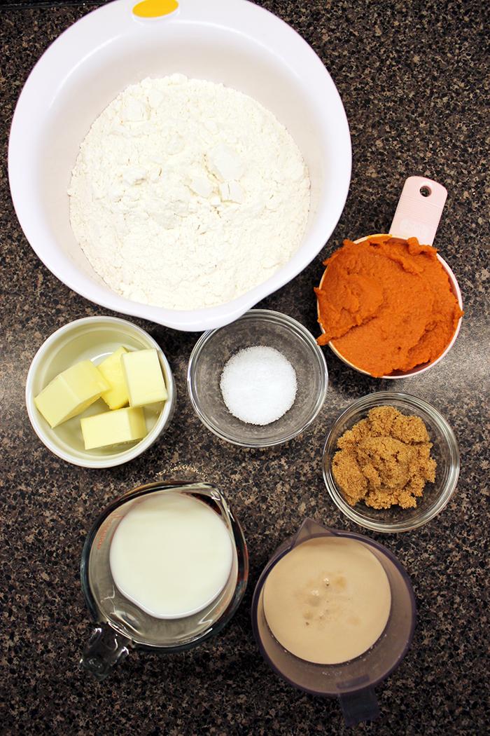 Pumpkin rolls - Ingredients