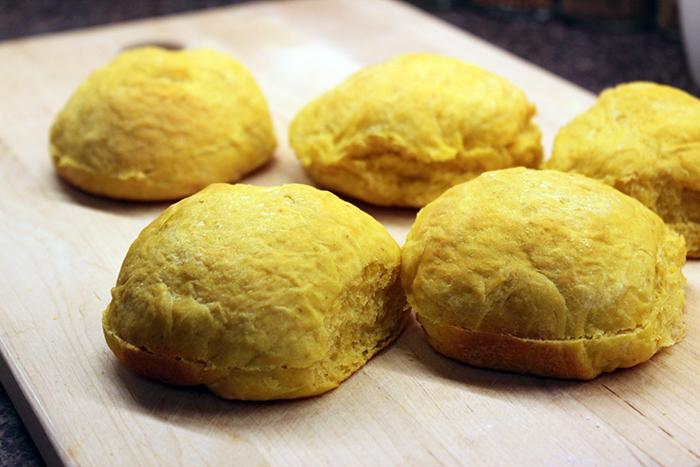 Pumpkin rolls - Baked