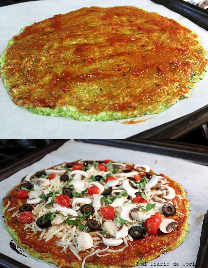 Pizza with zucchini base - Process