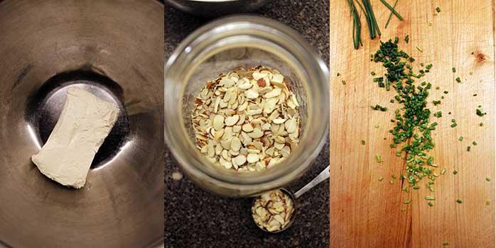 Crostinis con queso crema y morrón acaramelado - Ingredientes