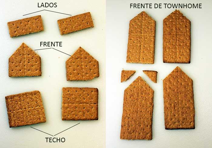 Casas navideñas con Honey Maid - Cortes de los graham crackers