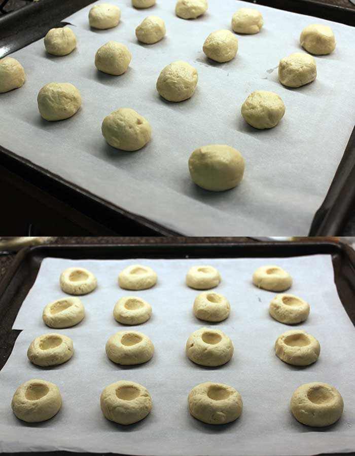 Thumbprint cookies - Dough