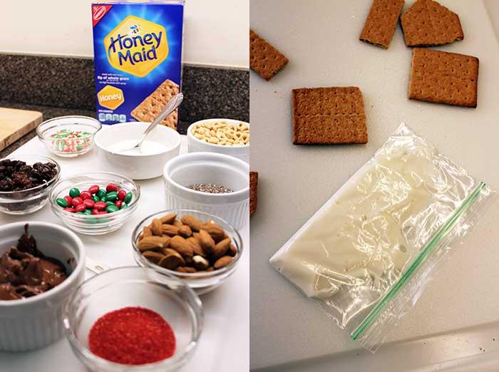 Casas navideñas con Honey Maid - Ingredientes