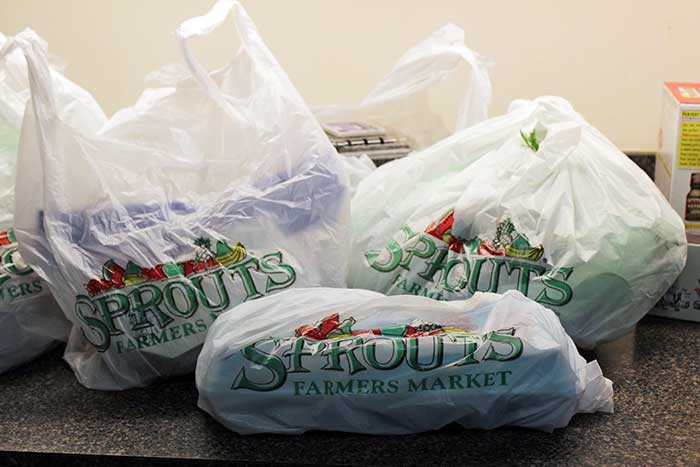 Products purchased from Sprouts supermarket