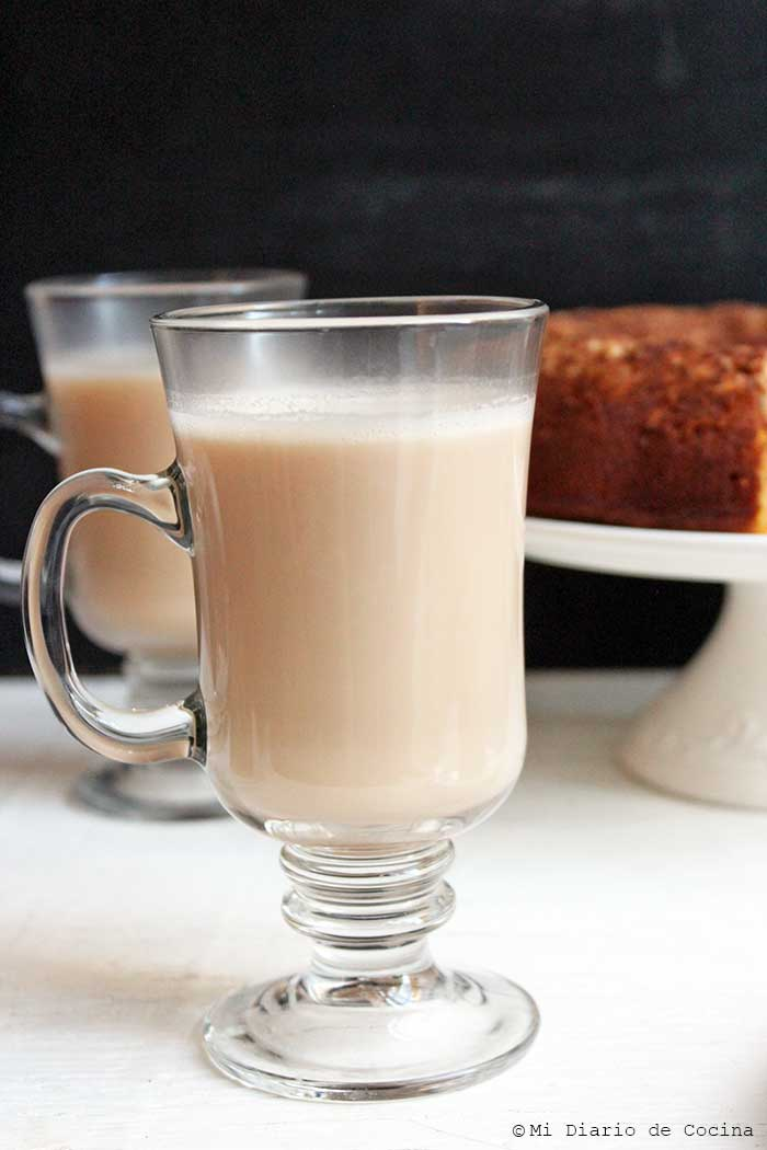 Paleo pumpkin cake and Latte coffee