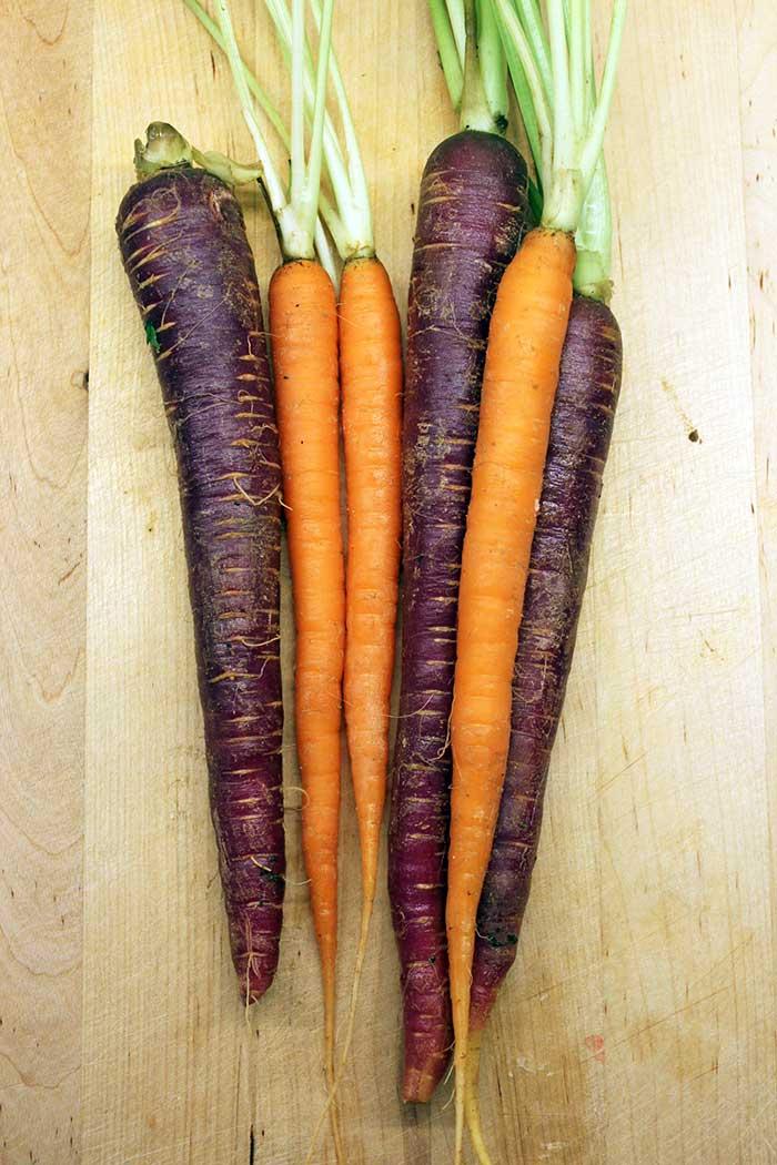 Pollo apanado, zanahorias y puré rústico - Zanahorias