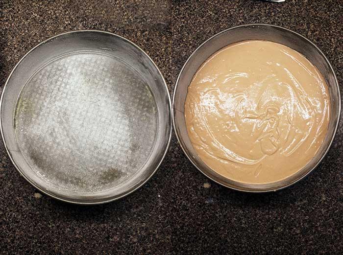 Pastel de chocolate sin gluten - Molde